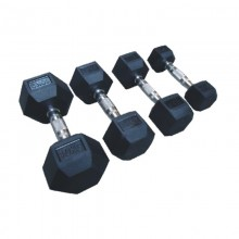 Rubber Coated Hexagon Dumbbell
