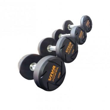 VIVA Fitness TPR Solid Dumbbells